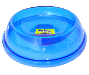 Comedouro Cristal Cães E Gatos Filhote Polymer Mini - Azul