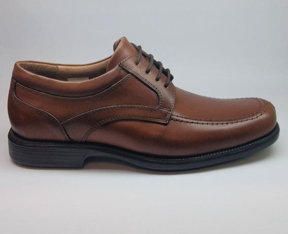 Zapato De Cuero Cordon Goma Envio Gratis