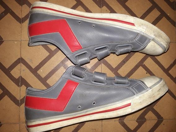 Zapatillas Usadas De Cuero Marca Pony Talle 44 - Exc. Estado