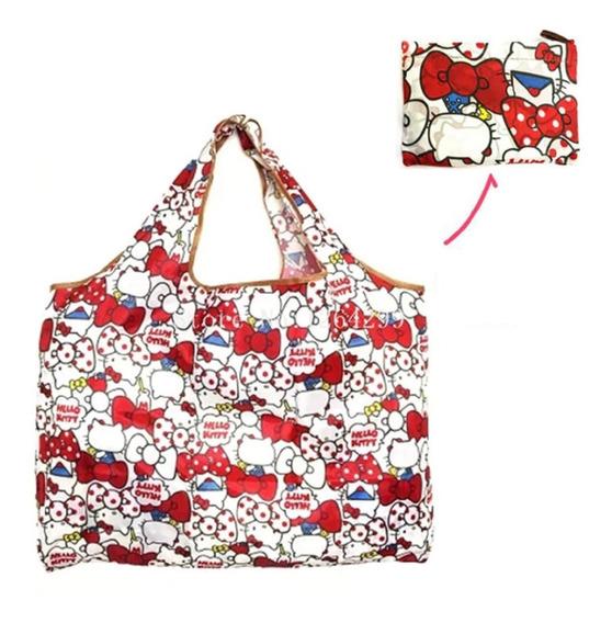 Bolsa Para Supermercado Hello Kitty Plegable