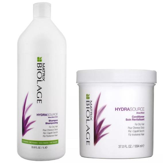 Shampoo Y Acondicionador Litro Loreal Hydrasource Matrix