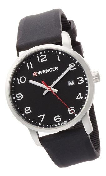Relógio Suíço Wenger Avenue Pulseira De Silicone 01.1641.101