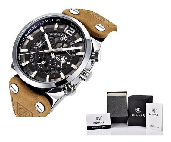 Relógio Masculino Benyar Original Executivo À Prova D