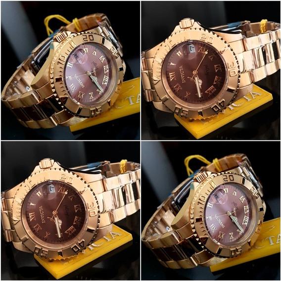 Relógio Invicta Feminino 14365 Dourado Original.