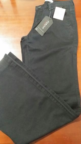 Calça Jeans Feminina Staroup Preta 36 Boca Larga