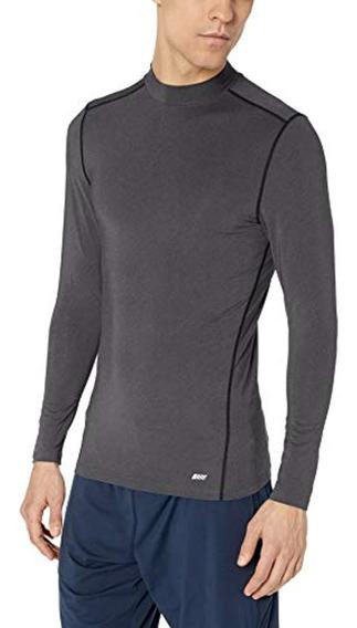 Essentials Men S Control Tech Mock Neck Long-sleeve Shirt
