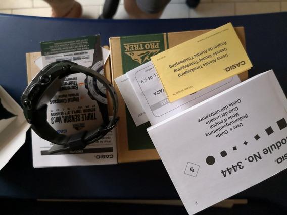 Casio Protrek Prw-3100y-3cr, Solar, Radiocontrolado