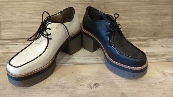 Zapatos Plataforma Marca Viamo Mujer Talles 35 Al 39