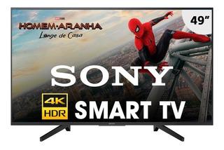 Smart Tv 49 Polegadas Ultra Hd Led 4k Sony Kd-49x705f Preta
