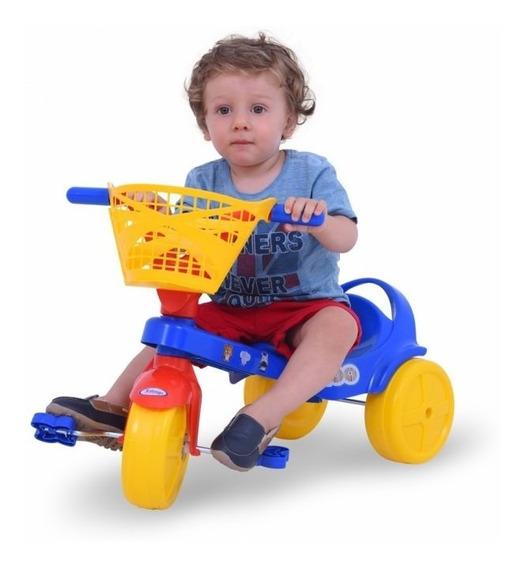 Triciclo Infantil C/ Canasto Zoo