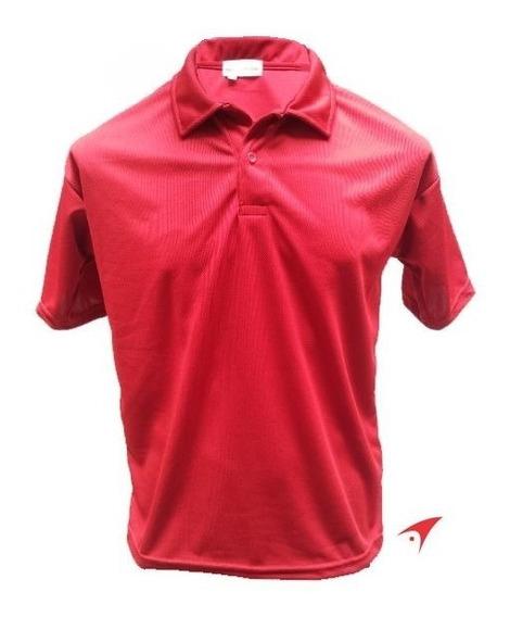 Playera Tipo Polo Dry-fit Roja