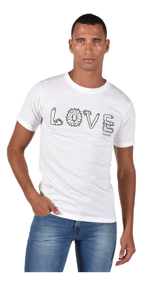 Playera Mancandy Mc002-rc05 Blanco Unisex