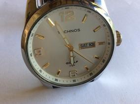 Elegantíssimo Relógio Technos 42 Mm À Prova D