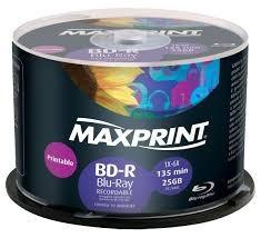 Blu Ray Maxprint 25gb Print-12 Vezes No Cartão-frete Grátis
