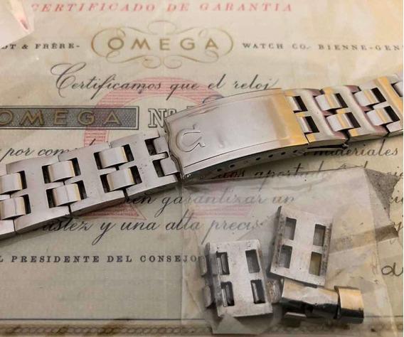 Relógio Ômega - Pulseira Vintage 20mm Em Aço Maciço.