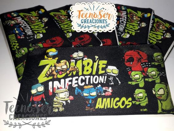 Cartuchera Zombies Infection Para Eventos Impresa 2 Caras