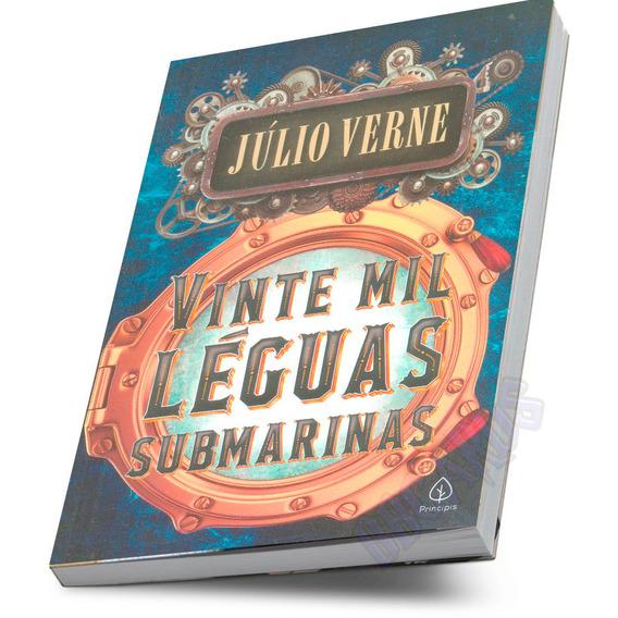 Livro Infanto Juvenil Aventura Vinte Mil Léguas Submarinas