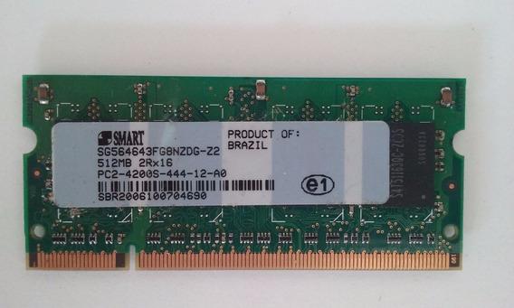 Memória Ram Smart Para Notebook 512mb Ddr 2