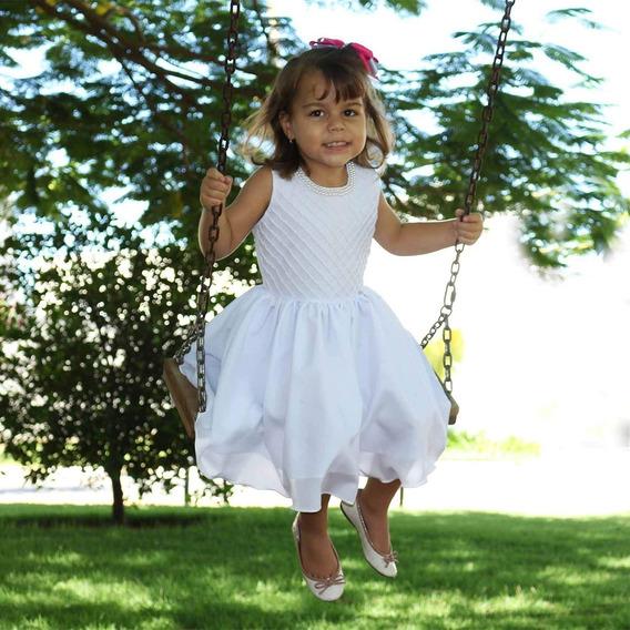 Vestido Para Batizado Infantil Princesa Com Pérolas