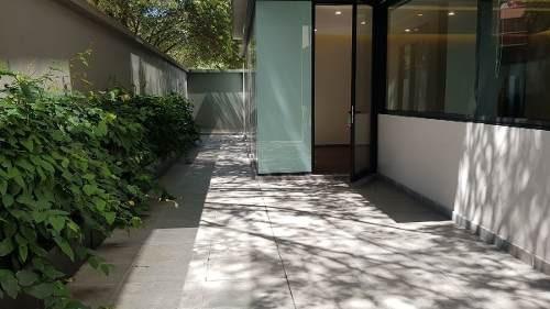 Renta 218m2. De Garden House 2 Rec. !nuevo! Polanco Con Patio De 50 M2.
