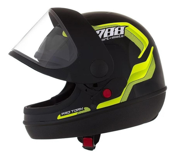 Capacete para moto integral Pro Tork Sport Moto 788 amarelo S