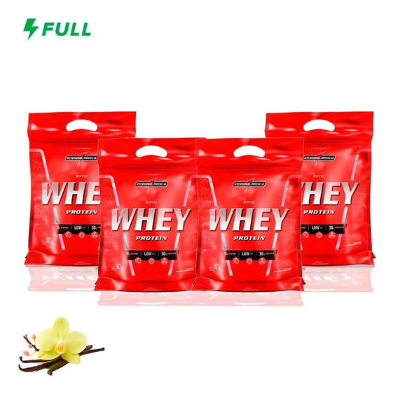 Combo 4x Nutri Whey Protein 907g Refil - Integral Medica