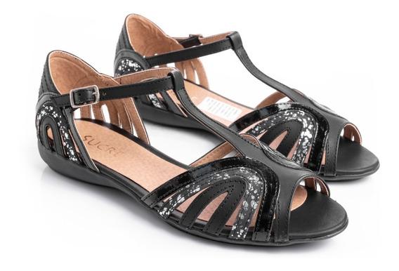 Sandalias Zapatos Mujer Chatitas En Cuero Super Comodas