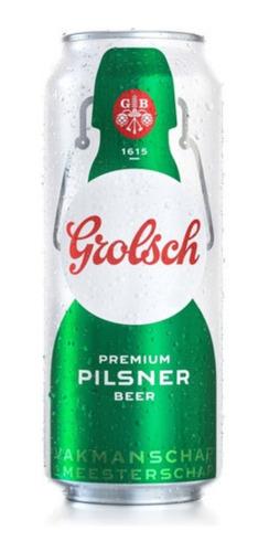 Imagen 1 de 6 de Cerveza Grolsch Lata X473cc Pack X12u
