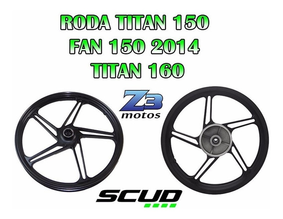 Roda Scud 5p Titan150 E Fan150 2015 P.fosco 2014 2016