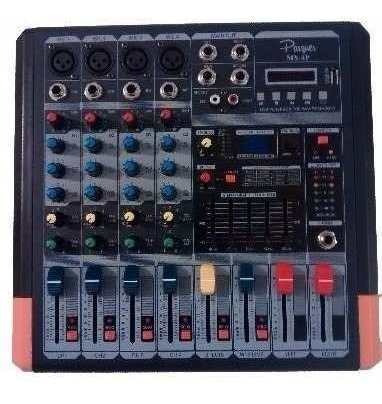 Consola Mixer Parquer 4 Canales Phantom Efectos Mx-4p Cuota