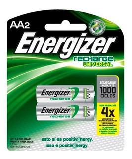 2 Pilas Recargables Aa Energizer Nimh 1.2v - 2000 Mah