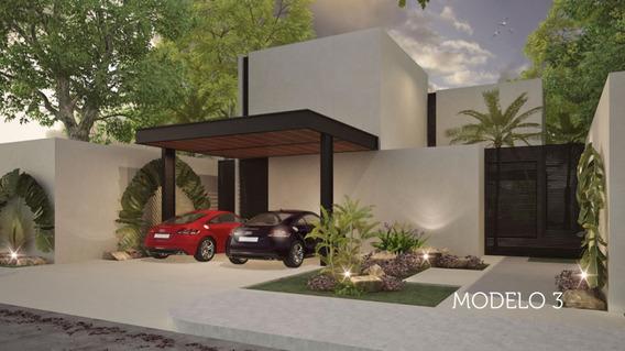 Casa Nueva De Una Planta Modelo 3, Lote 8, Privada Arbórea, Conkal, Mérida Norte