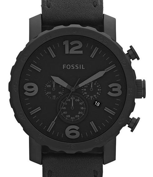 Relógio Fossil Masculino Nate Couro Preto - Jr1354