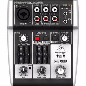 Mesa De Som Behringer Xenyx 302usb Mixer Interface De Áudio