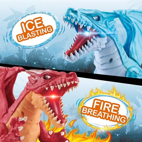 Dinosaurio Robo Alive Dragon Fuego O Hielo Zuru Importado