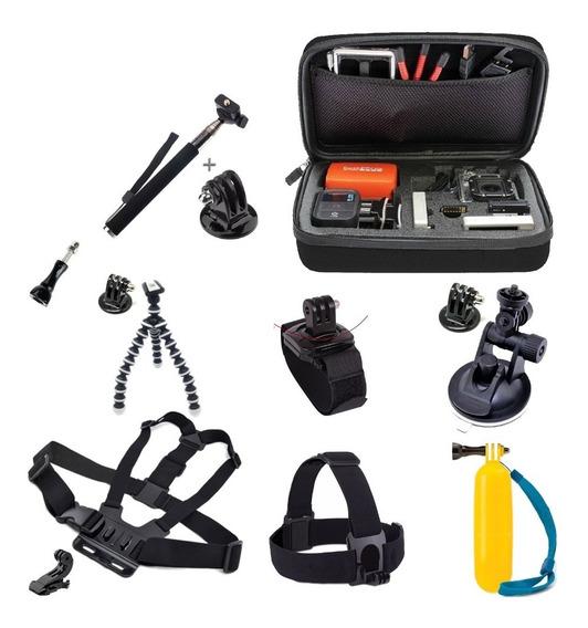 Kit Acessórios P/ Gopro 3+ 4 5 Black Sj4000 Sj5000 Sj6000
