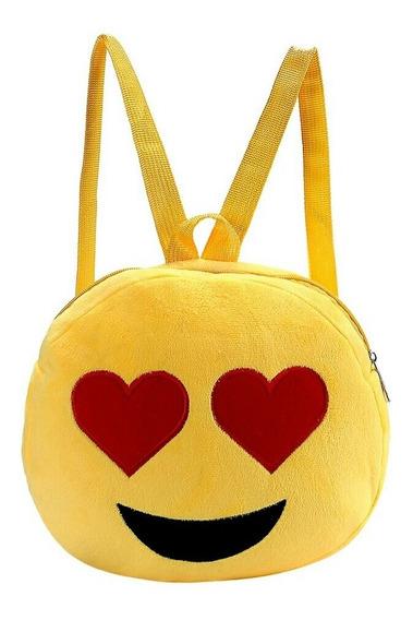 Mochila Infantil Emoji Emoticons Carinhas Escolar Infantil