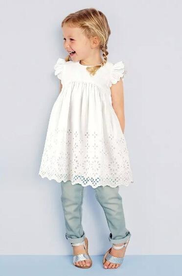 Vestidito Blanco Para Niñas! Moda Infantil