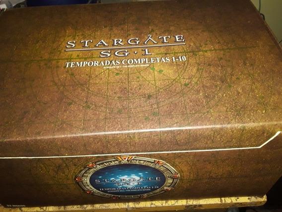 Box Dvd Stargate Sg-1 - Temporadas 1-10 ( 53 Discos ) Novo