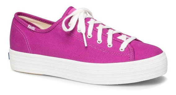 Zapatilla Triple Kick Seasonal Solids Urbana Fucsia Keds