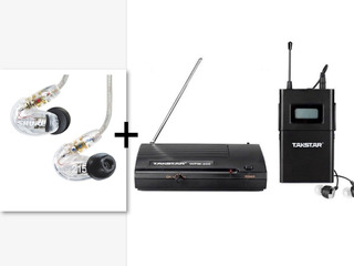 Shure Se215 + Takstar Wpm200 Monitoreo Inalambrico In Ear