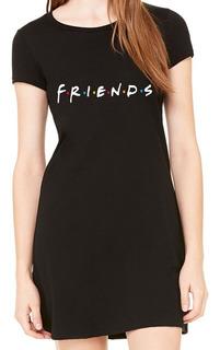 Vestido Friends Curto Verão Feminino Seriado Série Amigos