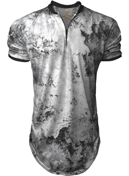 Camiseta Longline Masculina Gola Polo Esporte Swag