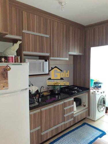 Apartamento Com 2 Dormitórios Para Alugar, 46 M² Por R$ 1.200/mês - Jardim Heitor Rigon - Ribeirão Preto/sp - Ap1966