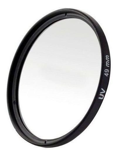 Filtro Uv Ultravioleta Protetor Para Lentes Câmeras Fotográficas 49mm Canon, Nikon, Sony, Fuji, Etc. Universal