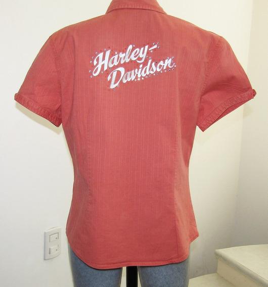Blusa Harley Davidson Bordada Poco Uso