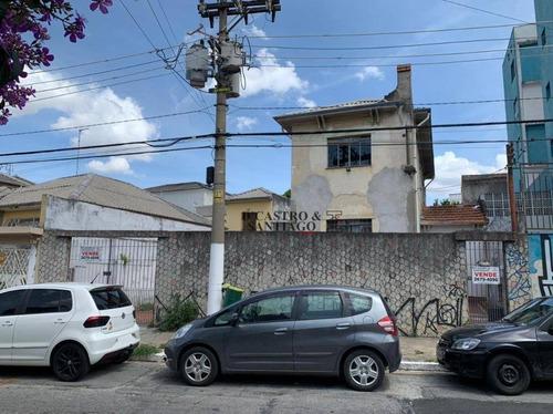 Terreno À Venda, 325 M² Por R$ 1.500.000 - Belém - São Paulo/sp - Te0098