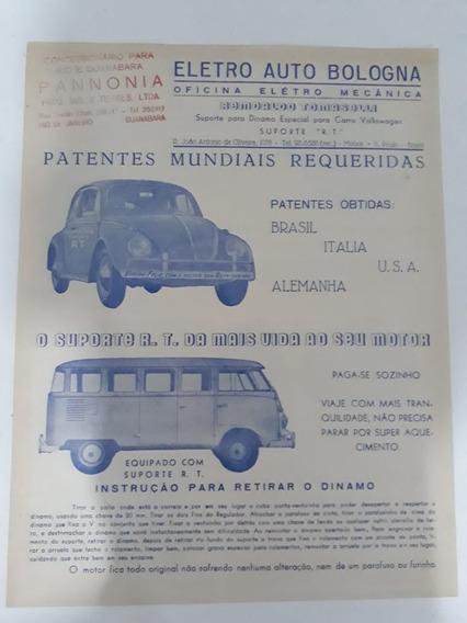 Propaganda Eletro Auto Bologna Pannonia Rio Vw Fusca Kombi