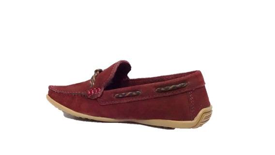 Sapato Infantil Laroche Couro Vinho 005478