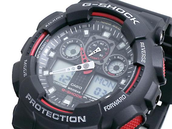 Relogio Casio G-shock Ga 100-1a4dr - 1 Ano Garantia - Ga100